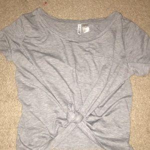 oversized gray t shirt